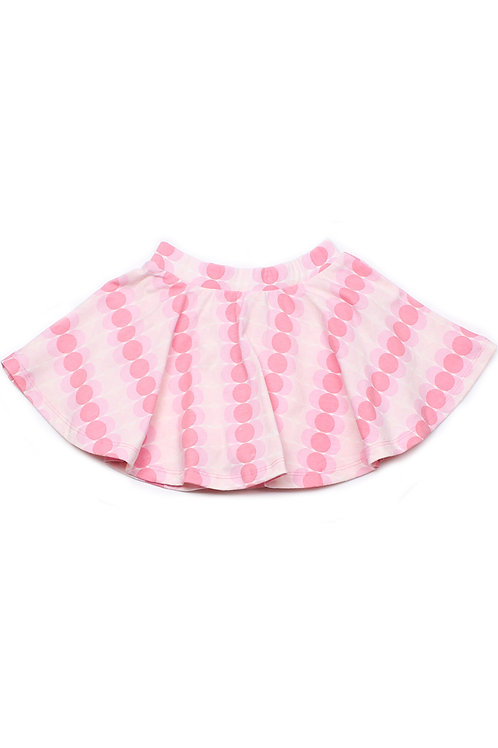 Dots Design Print Skirt PINK (Girl's Bottom)
