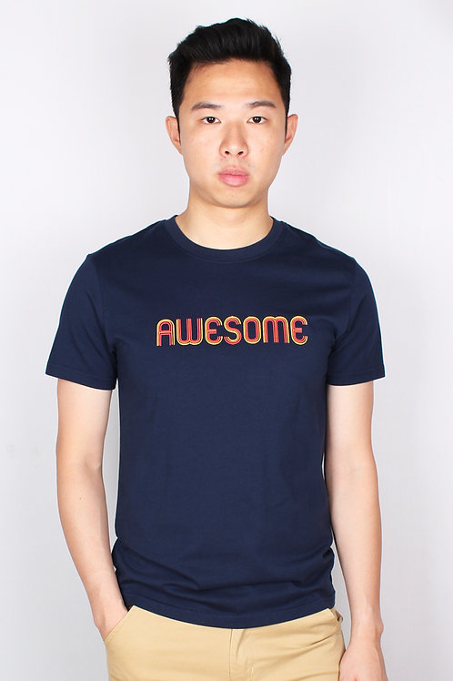AWESOME T-Shirt NAVY (Men's T-Shirt)