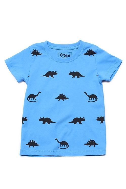 Dinosaurs Print T-Shirt BLUE (Boy's T-Shirt)