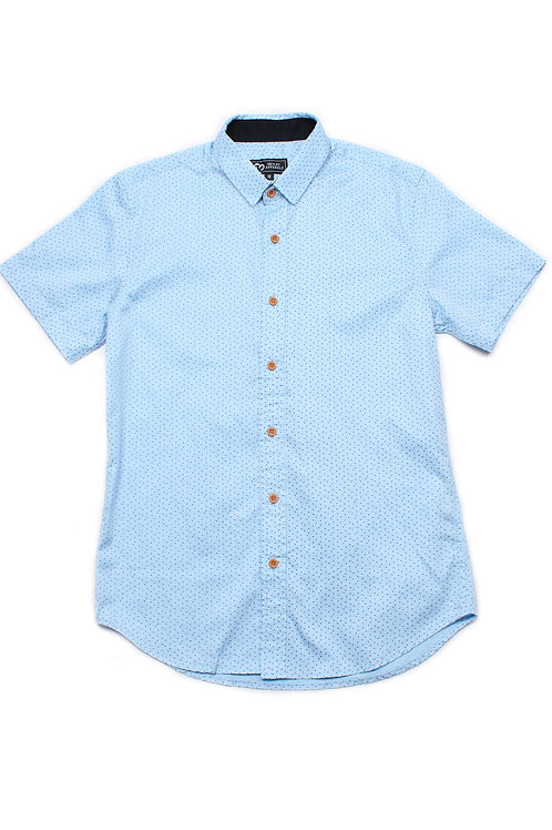 Sprinkle Print Short Sleeve Shirt BLUE (Men's Shirt)