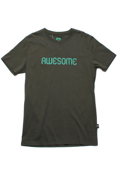 AWESOME T-Shirt DARKGREEN (Men's T-Shirt)