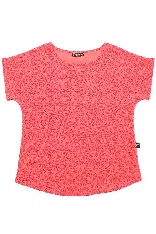 Floral Design Print Blouse PINK (Ladies' Top)