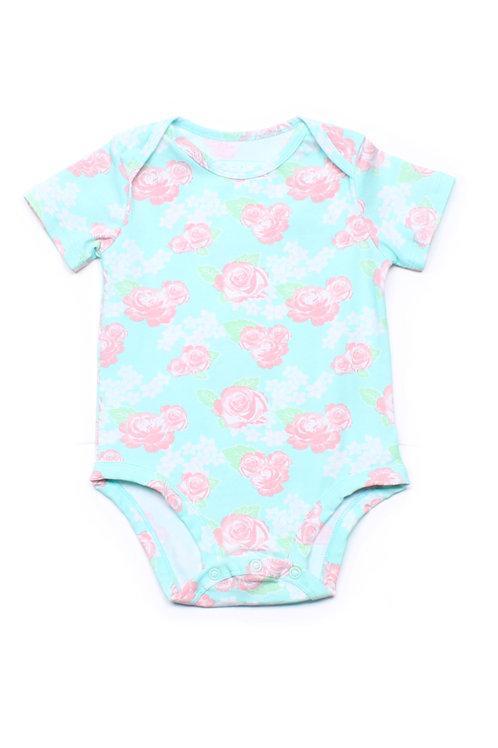 Floral Print Romper GREEN (Baby Romper)