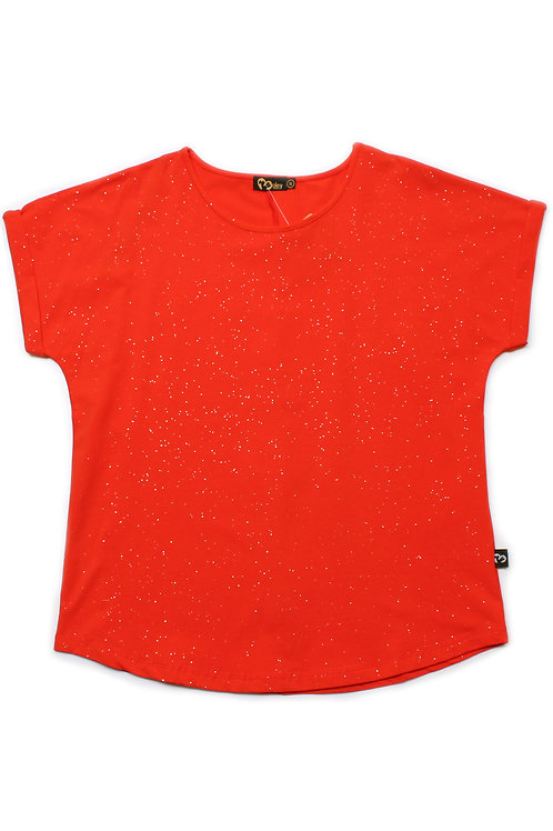 Glitter Dust Blouse ORANGE (Ladies' Top)