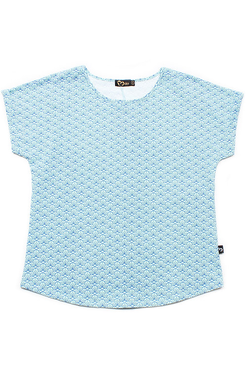 Seashell Print Blouse BLUE (Ladies' Top)