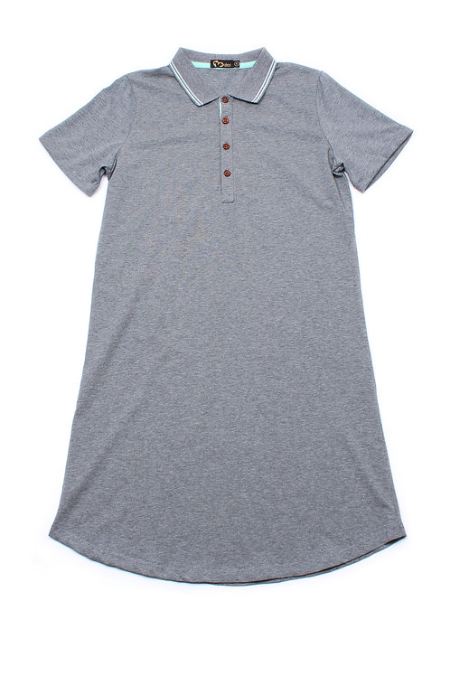 Twin Tipped Polo Shift Dress GREY (Ladies' Dress)