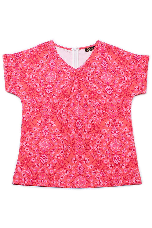 Floral Print Blouse RED (Ladies' Top)