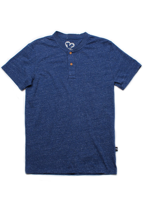 Classic Henley T-Shirt BLUE (Men's T-Shirt)