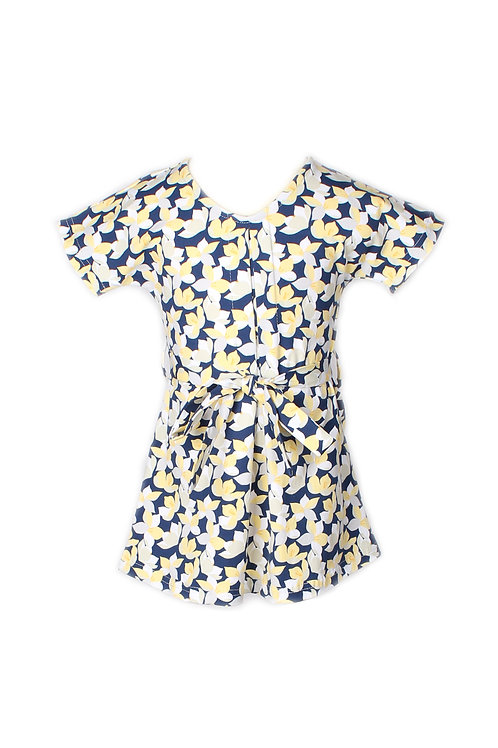 Floral Print Flare Dress YELLOW (Girl's Dress)
