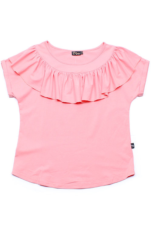 Frill Ruffle Collar Blouse PINK (Ladies' Top)