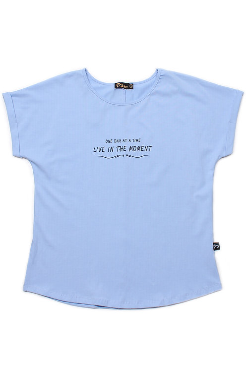 LIVE IN THE MOMENT Blouse BLUE (Ladies' Top)