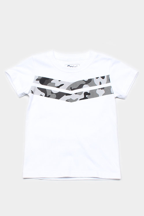 Camo Chevron T-Shirt WHITE (Boy's T-Shirt)