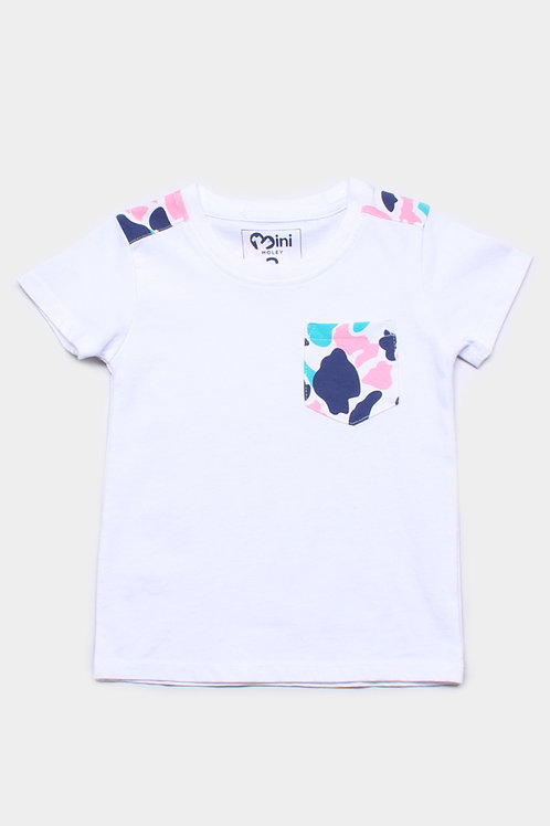 Design Print Pocket T-Shirt WHITE (Boy's T-Shirt)