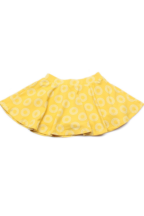 Design Circles Print Skirt YELLOW (Girl's Bottom)