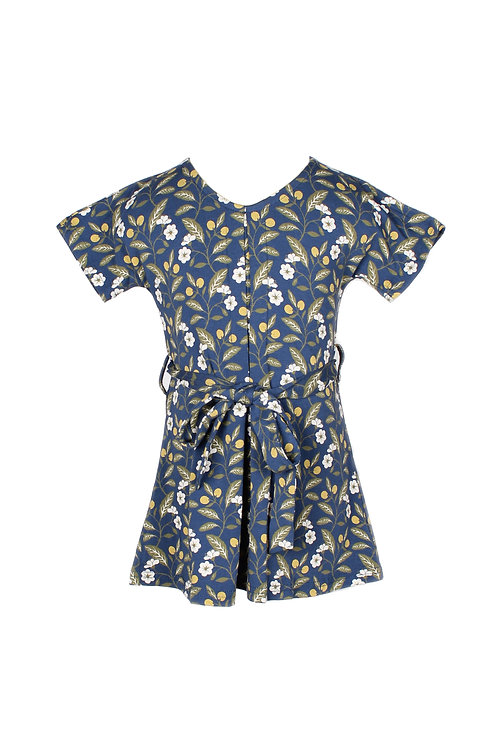 Floral Print Flare Dress BLUE (Girl's Dress)