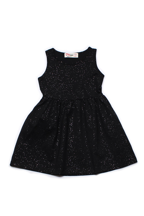 Glitter Dust Dress BLACK (Girl's Dress)