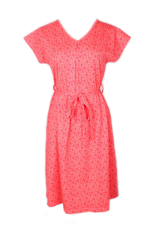 Floral Design Flare Dress PINK (Ladies' Dress)