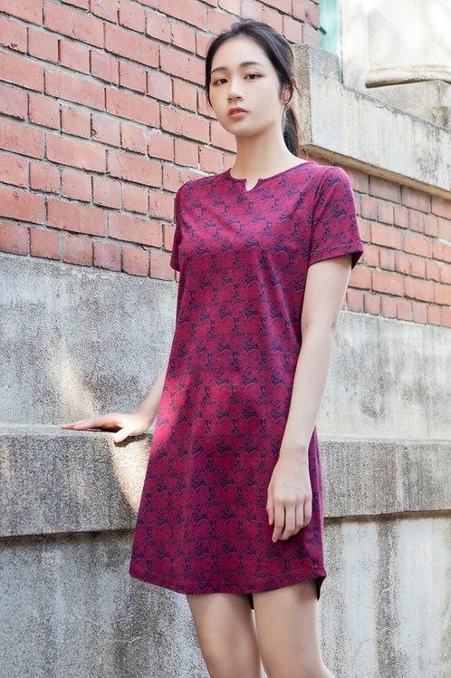 Tribal Print Shift Dress RED (Ladies' Dress)