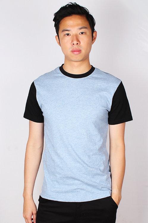 Two Tone Short Sleeve T-Shirt BLUE (Men's T-Shirt)