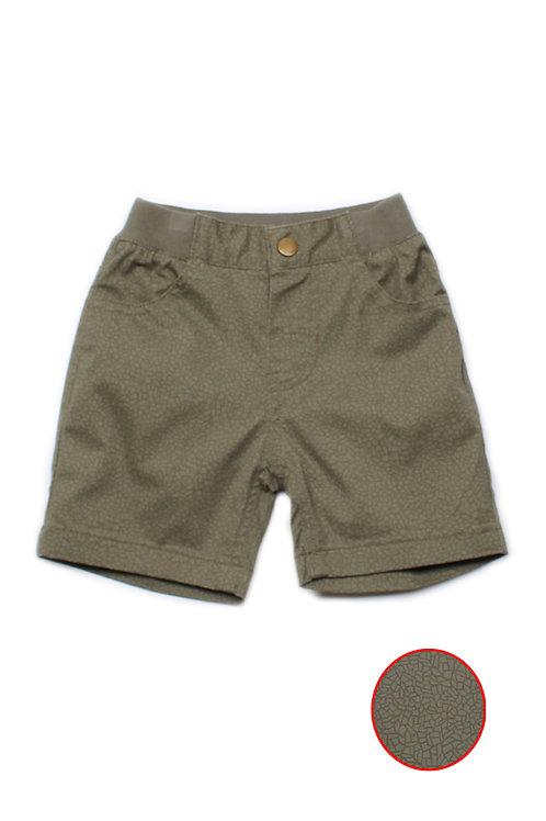 Mosaic Print Shorts GREEN (Boy's Shorts)