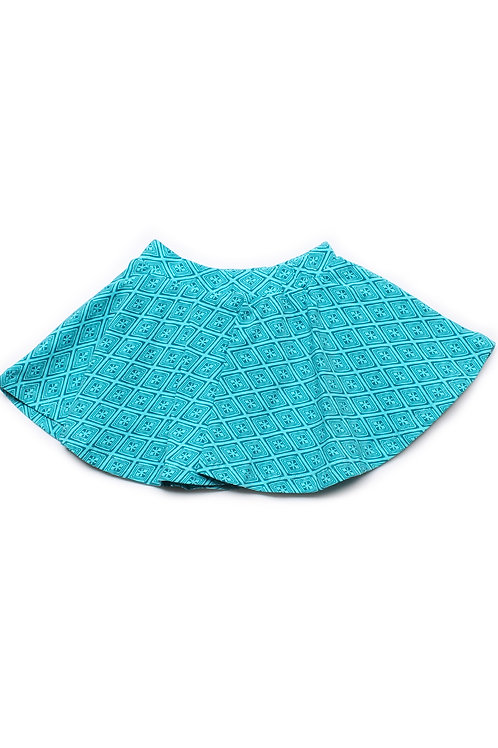 Design Print Skirt BLUE (Girl's Bottom)