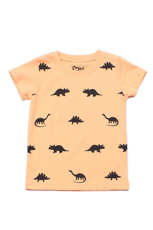 Dinosaurs Print T-Shirt ORANGE (Boy's T-Shirt)