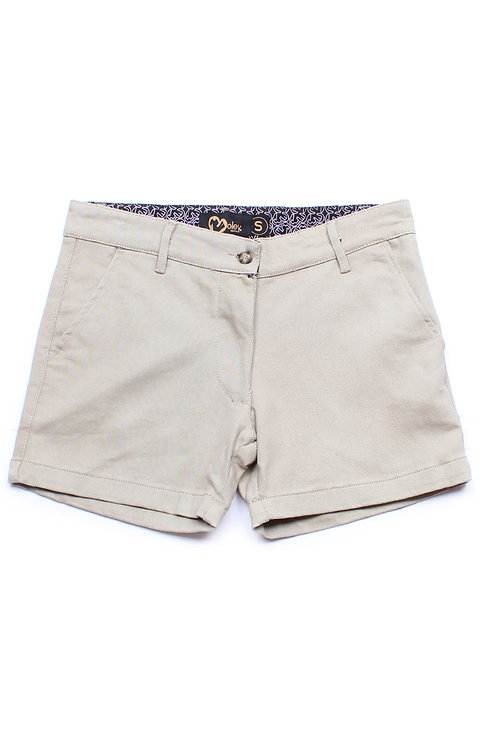 Brushed Cotton Twill Shorts GREY (Ladies' Bottom)