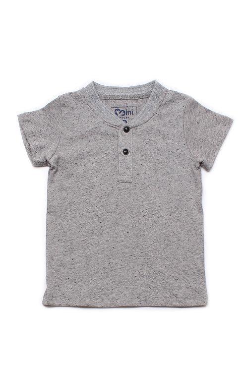 Classic Henley T-Shirt GREY (Boy's T-Shirt)
