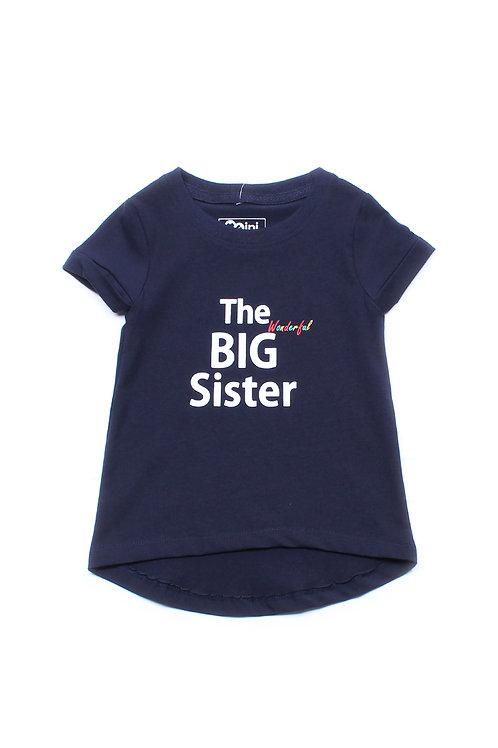 The Wonderful BIG Sister T-Shirt NAVY (Girl's Top)