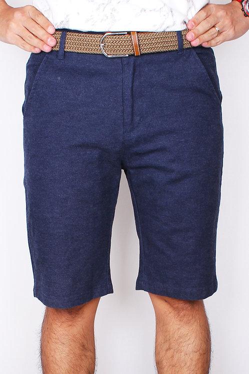 Brushed Denim Cotton Bermudas NAVY (Men's Bottom)