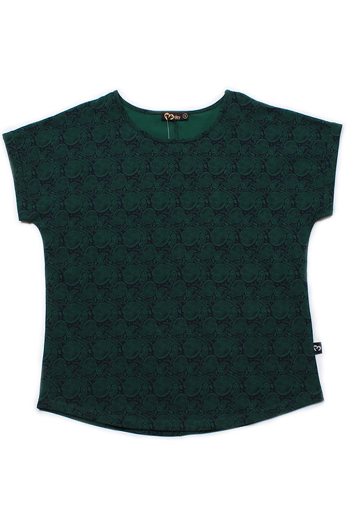 Tribal Print Blouse GREEN (Ladies' Top)