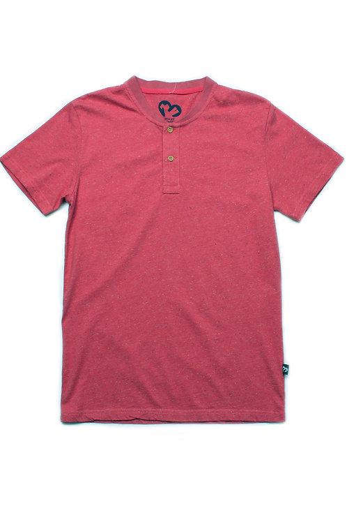 Classic Henley T-Shirt RED (Men's T-Shirt)
