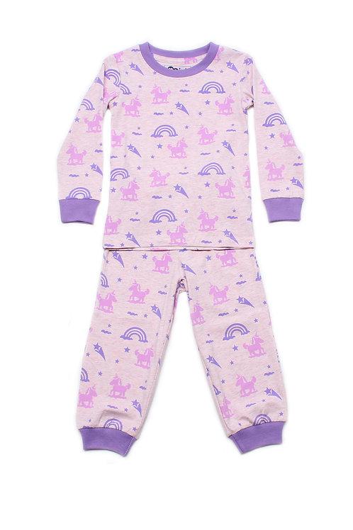 Unicorn Print Pyjamas Set PINK  (Kids' Pyjamas)