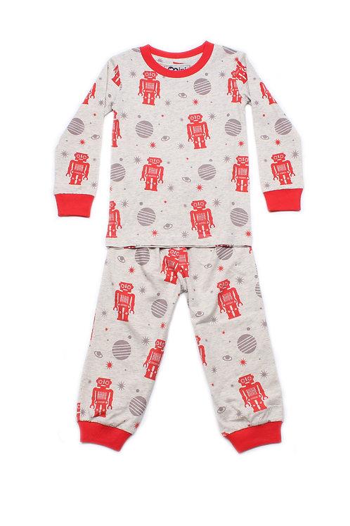 Robot Print Pyjamas Set HEATHER  (Kids' Pyjamas)