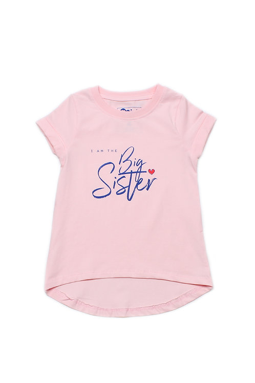 BIG SISTER T-Shirt PINK (Girl's Top)