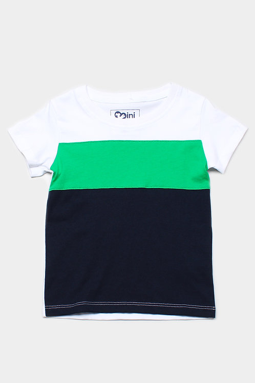 Colour Block T-Shirt WHITE (Boy's T-Shirt)