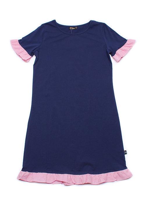 Frill Shift Dress NAVY (Ladies' Dress)