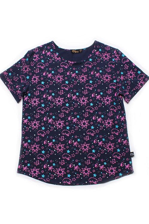 Constellations Print Blouse NAVY (Ladies' Top)