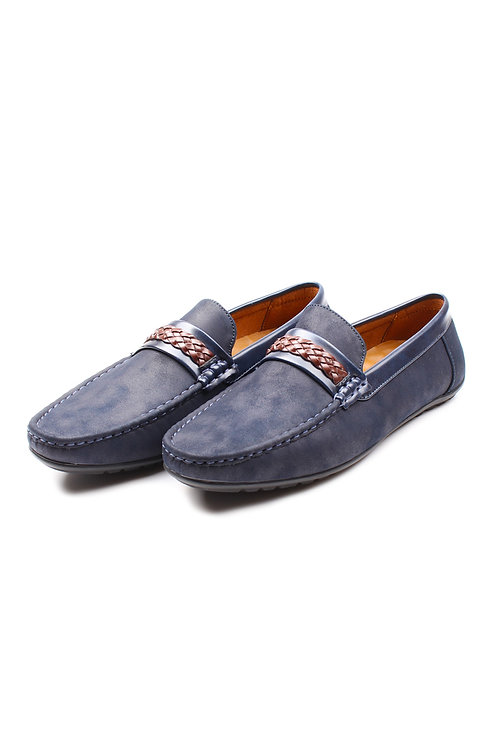 Twine Strap Faux Suede Loafer NAVY (Men's Shoes)