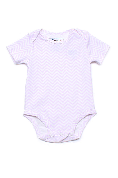 Zigzag Stripes Print Romper PURPLE (Baby Romper)