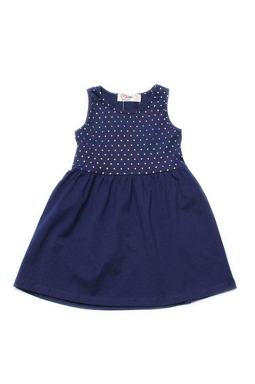 Rainbow Stars Print Dress NAVY (Girl's Dress)