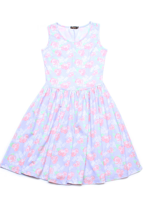 Floral Print Skater Dress PURPLE (Ladies' Dress)