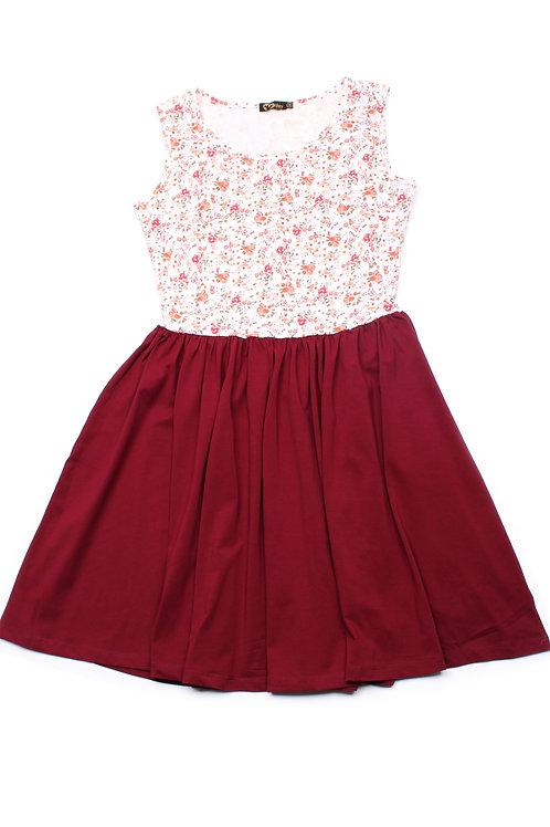 Floral Print Skater Dress RED (Ladies' Dress)