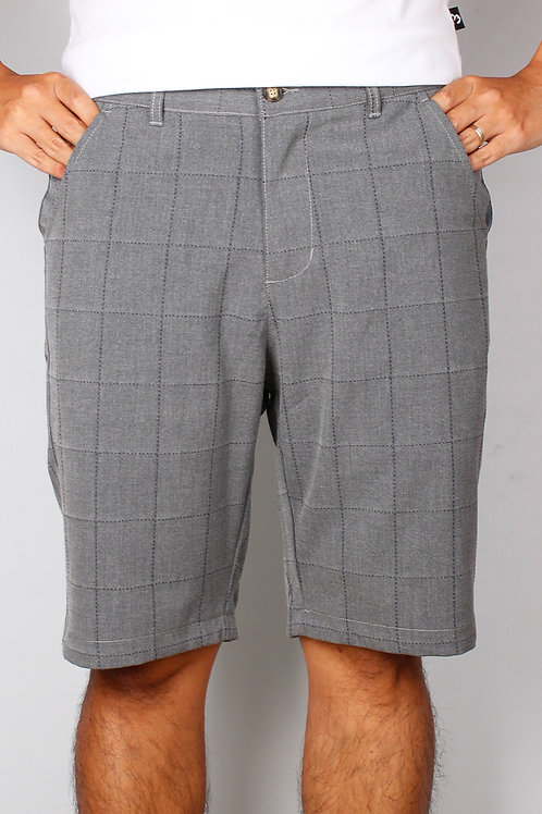 Checkered Stitch Bermudas GREY (Men's Bottom)