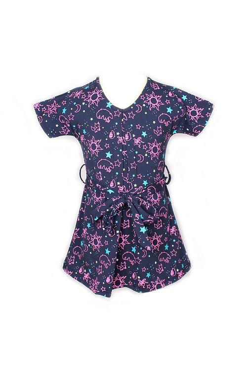 Constellations Print Flare Dress NAVY (Girl's Dress)