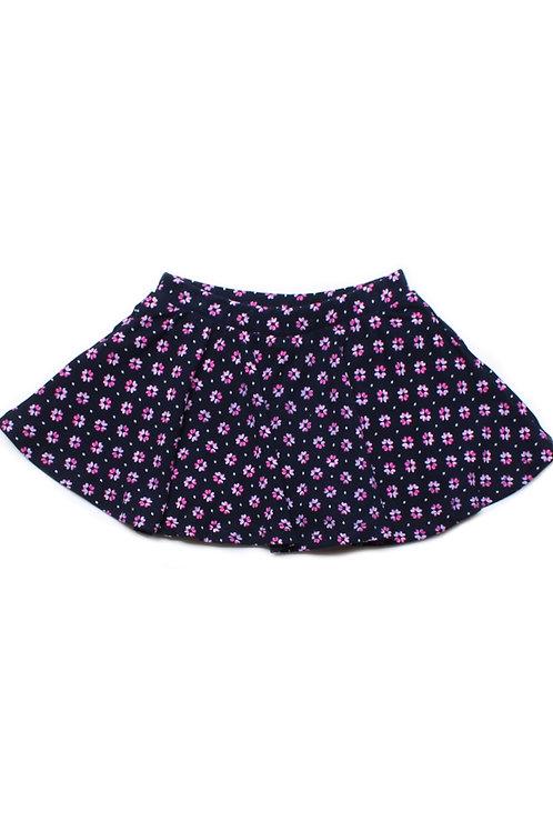 Floral Print Skirt NAVY (Girl's Bottom)