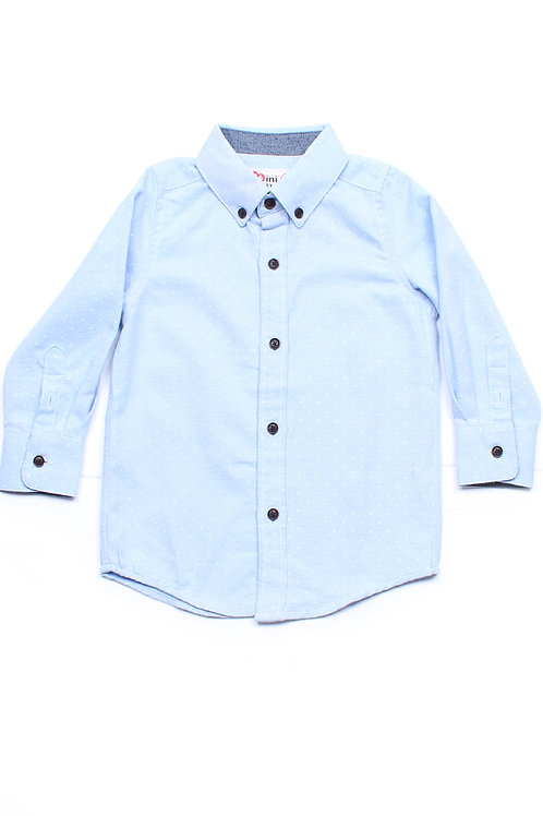 Polka Dot Long Sleeve Shirt BLUE (Boy's Shirt)