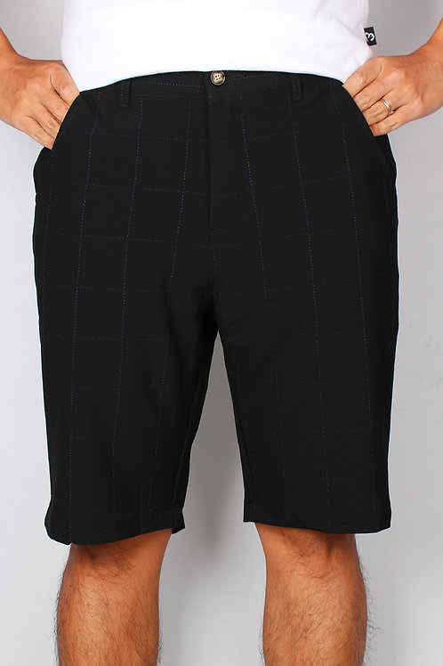 Checkered Stitch Bermudas BLACK (Men's Bottom)
