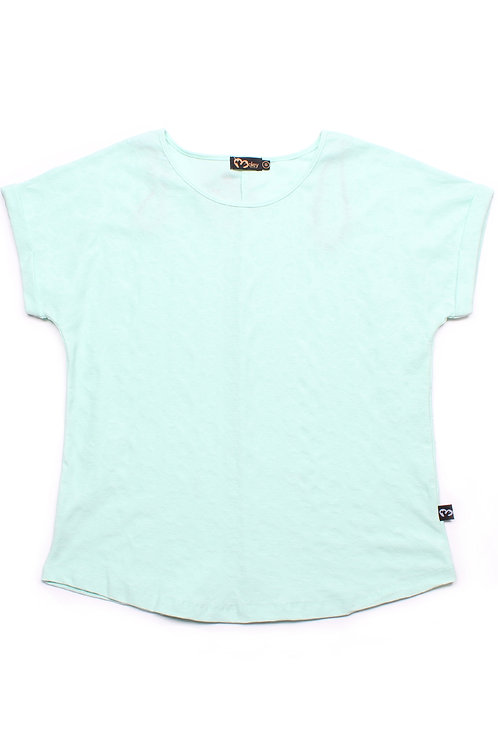 Floral Imprint Blouse CYAN (Ladies' Top)