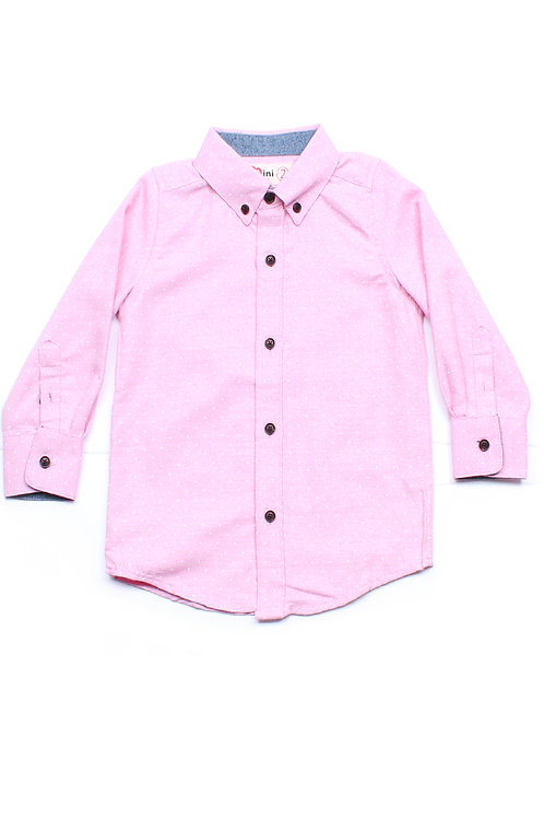 Polka Dot Long Sleeve Shirt PINK (Boy's Shirt)